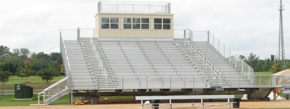 Indoor Stadium Bleachers - Semi-Closed Decking
