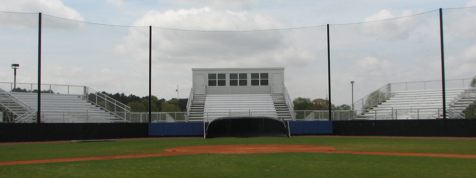 Elevated Stadium Bleachers - Angle Frame + Custom Press Box