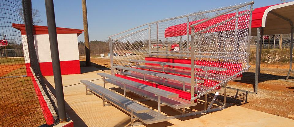 Non-Elevated Stadium Bleachers - 5 Row x 15'
